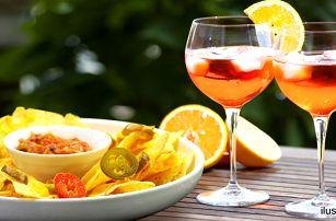 2x Aperol Spritz a mexická chuťovka nachos