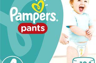 PAMPERS Pants 4, 104ks (9-14kg) MEGA Box, MĚSÍČNÍ ZÁSOBA - plenkové kalhotky