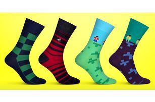 Pánské designové ponožky vyrobené v ČR