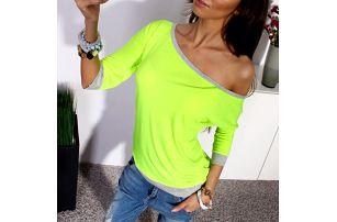 Tričko se spadlým rukávem - Zelená, velikost 3