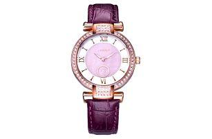 Elegantní dámské hodinky - fialová - dodání do 2 dnů