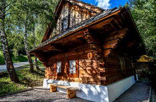 Rekreační areál Predná hora s neomezeným wellness a až 2 dětmi do 12 let zdarma včetně rekreace a polopenze v soukromí chaty nebo chaloupky