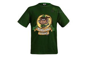 Tričko - Největší kanec - zelené - XL