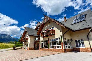 Penzion Lomnický v Tatrách s polopenzí a wellness pro dva