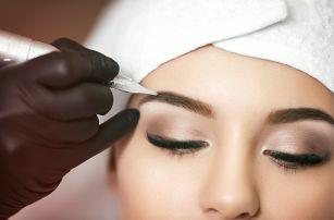 Permanentní make up: horní nebo dolní oční víčka či obočí