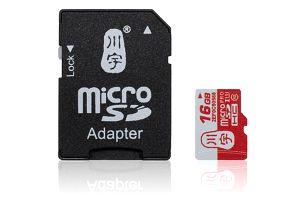 Micro paměťová karta 16 GB + redukce micro SD do SD