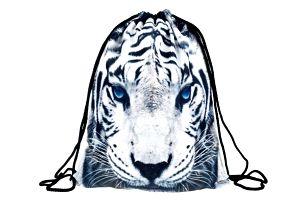 Vak na záda s motivem bílého tygra - dodání do 2 dnů