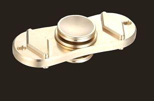 Antistresový fidget spinner - zlatá barva - dodání do 2 dnů