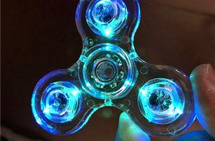 Svítící antistresový fidget spinner
