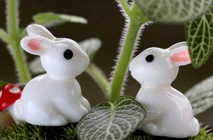 Dekorativní mini králíčci - 2 kusy