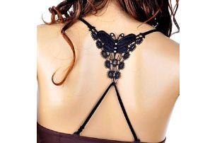 Ozdobná ramínka s krajkovým motýlem - 2 barvy