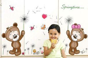 Samolepka do dětského pokojíčku - medvídci