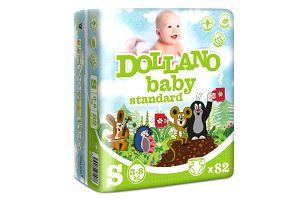 DOLLANO Baby Standart, velikost S, (3-8 kg) 82ks - jednorázové pleny