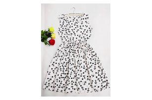 Rozmanité šaty s krásnými letními vzory a elastickým pasem - varianta 14, vel. 2