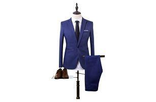 Pánský společenský oblek - námořní modř, vel. 5