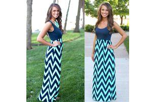 Dlouhé letní šaty s přiléhavým topem - C - velikost č. 6