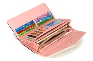Dámská peněženka zdobená kvítky - 5 barev