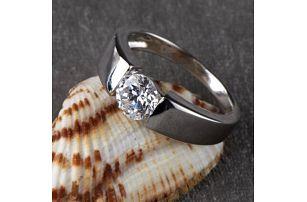 Módní prstýnek ve svatebním stylu - 3 barvy