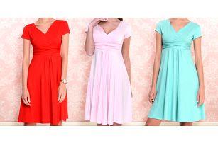 Letní šaty po kolena z příjemné a pružné viskózy