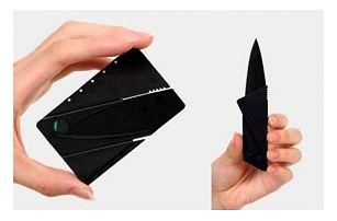 Kapesní nůž ve tvaru karty