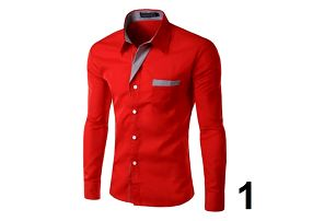 Pánská formální košile s dlouhým rukávem - varianta 1, vel. 5
