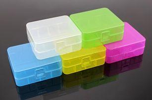 Plastové pouzdro pro 2 baterie 26650 – žlutá