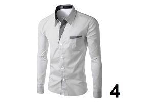 Pánská formální košile s dlouhým rukávem - barva 9, velikost 5