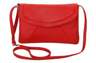 Ležérní crossbody kabelka - Červená