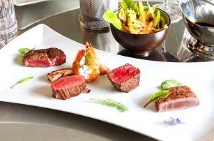 Gurmánské hovězí steaky a mořské plody pro dva