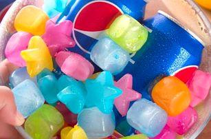 Barevné chladící kameny do nápojů 20 ks