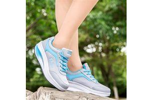 Doručení zdarma Dámská sportovní obuv s vyšší podrážkou - modrá 0616b07ead