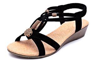 Dámské sandálky s korálky - 2 barvy