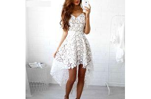 Romantické šaty z bílé krajky - Velikost č. 5