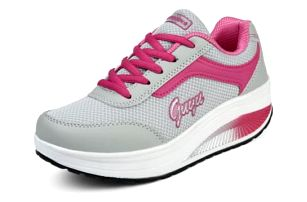 Dámská sportovní obuv s vyšší podrážkou -Tmavě růžová-38 -… 79e6dae069