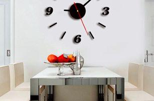 Akrylové 3D nalepovací hodiny