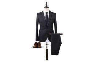 Pánský společenský oblek - Černá-velikost č. 1
