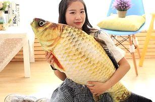 Dekorativní polštář ve tvaru ryby - 4 velikosti