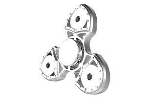 Fidget spinner v mechanickém provedení - Stříbrná