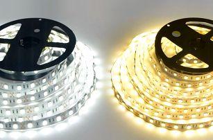 Kompletní sada LED pásku včetně adaptéru a vypínače