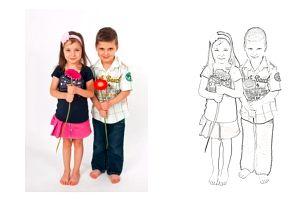 Kreativní omalovánky z vlastních fotografií, veselé obrázky i pro dospělé.