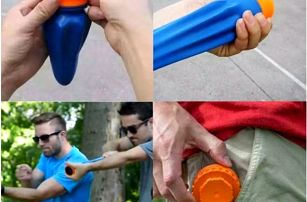 Plastový prak do kapsy Pocket Shot