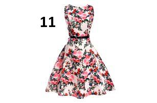 Dámské květinové šaty - varianta 11, velikost č. 4