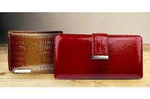 Lakovaná kožená peněženka Jennifer Jones