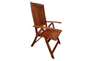 Viet eukalyptová polohovací židle (Zahradní židle z eukalyptu)