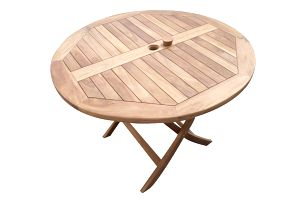 Rafa kulatý teakový skládací stůl (Zahradní stůl z teaku)