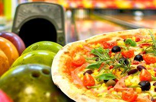 2 křupavé pizzy dle vašeho gusta a bowling