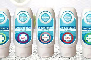 Antibakteriální gely Topvet na ruce a nohy