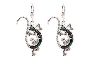 Fashion Icon Náušnice ještěrka s Paua perletí