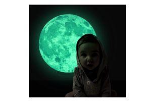 Samolepka svítící ve tmě Měsíc