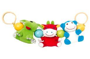 CANPOL Babies Chrastítko do kočárku plyšové se zvířátky